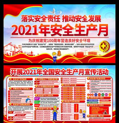 2021年全国安全生产月展板