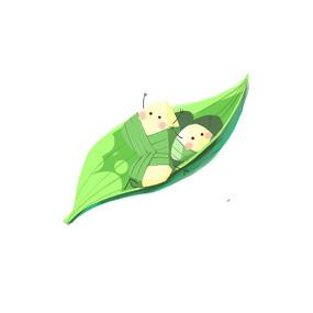 端午节粽子粽情快乐可爱卡通素材