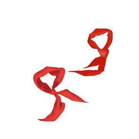 建党红色红领巾元素