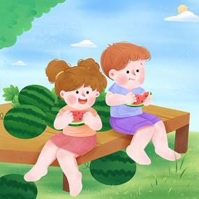 排排坐吃西瓜