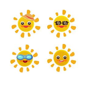 夏天拟人太阳元素