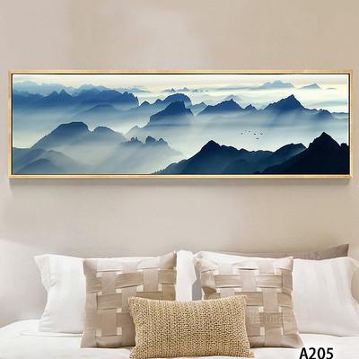 新中式水墨山水风景床头装饰画