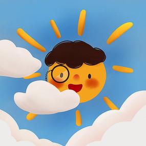 原创云朵太阳