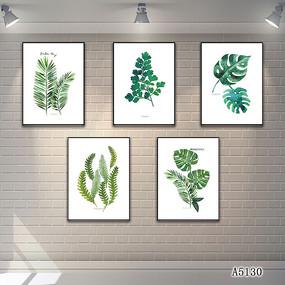 北欧热带植物花卉装饰画