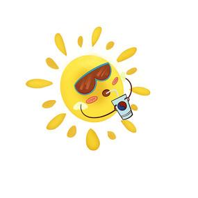 卡通可爱夏日太阳
