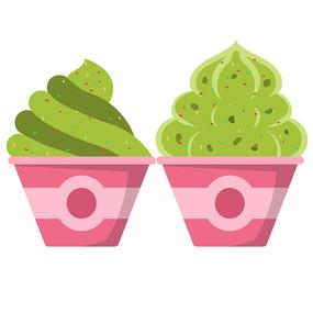卡通碗装冰淇淋