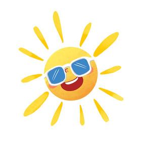 夏季卡通手绘太阳