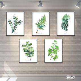 现代简约花卉植物装饰画