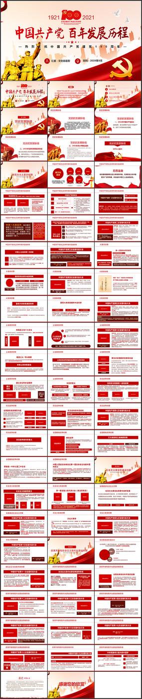 中国共产党发展历程建党100周年ppt