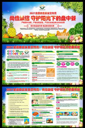 2021年全国食品安全宣传周展板