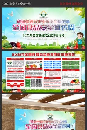 2021年食品安全宣传周展板
