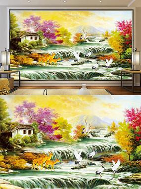 高清时尚立体3D意境油画风景装饰画
