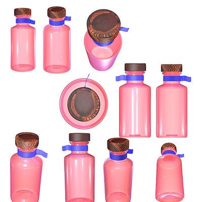 化妆品玻璃瓶型设计