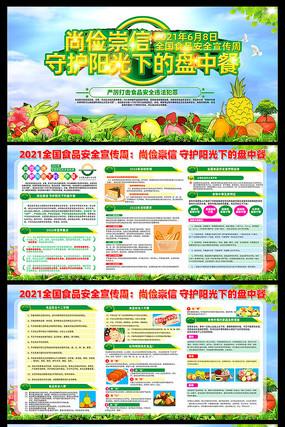 尚德守法全国食品安全周宣传展板