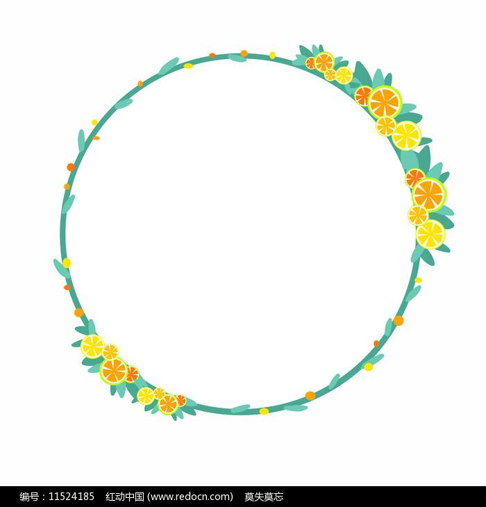夏日清凉柠檬边框图片