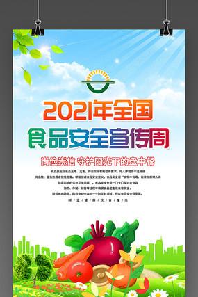 2021年全国食品安全周展板