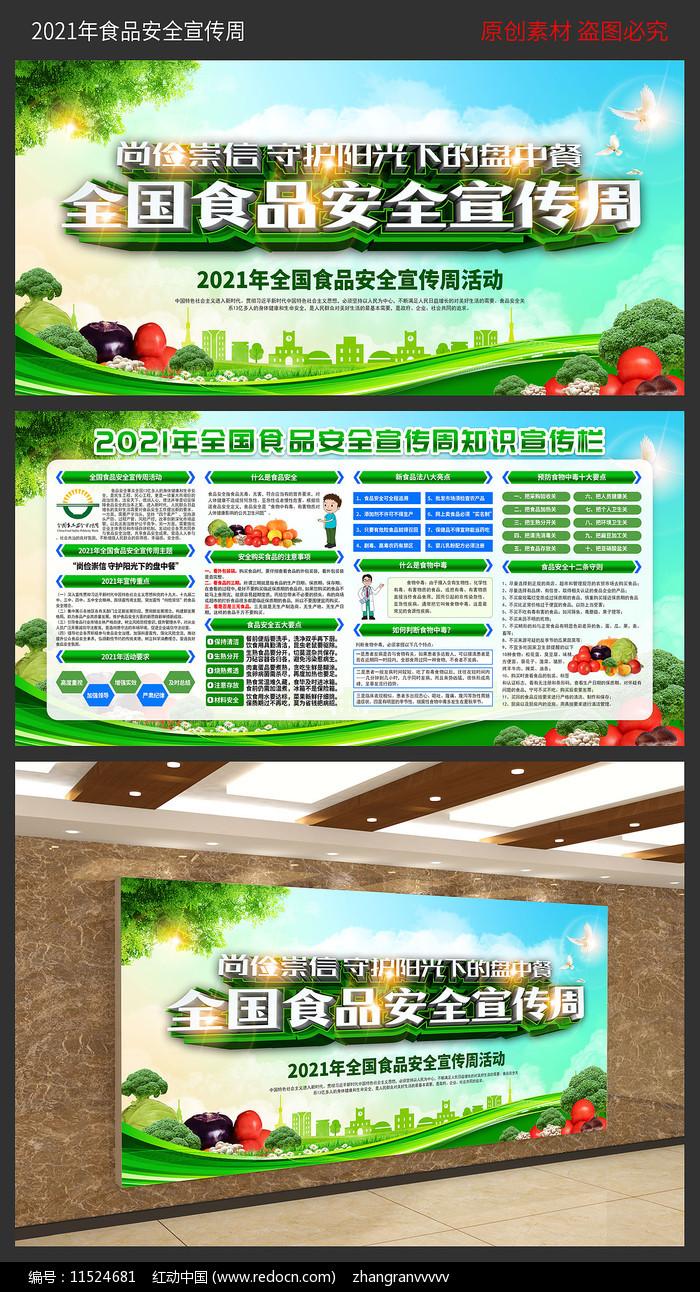 2021全国食品安全宣传周展板图片