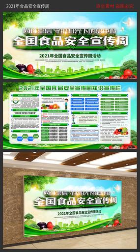 2021全国食品安全宣传周展板