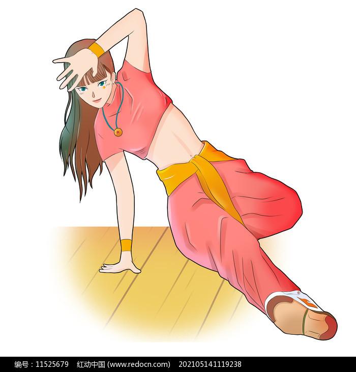舞蹈艺术街舞女孩元素图片