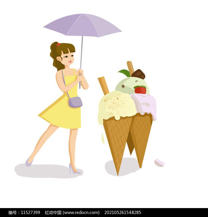 雪糕冷饮人物创意组合图片