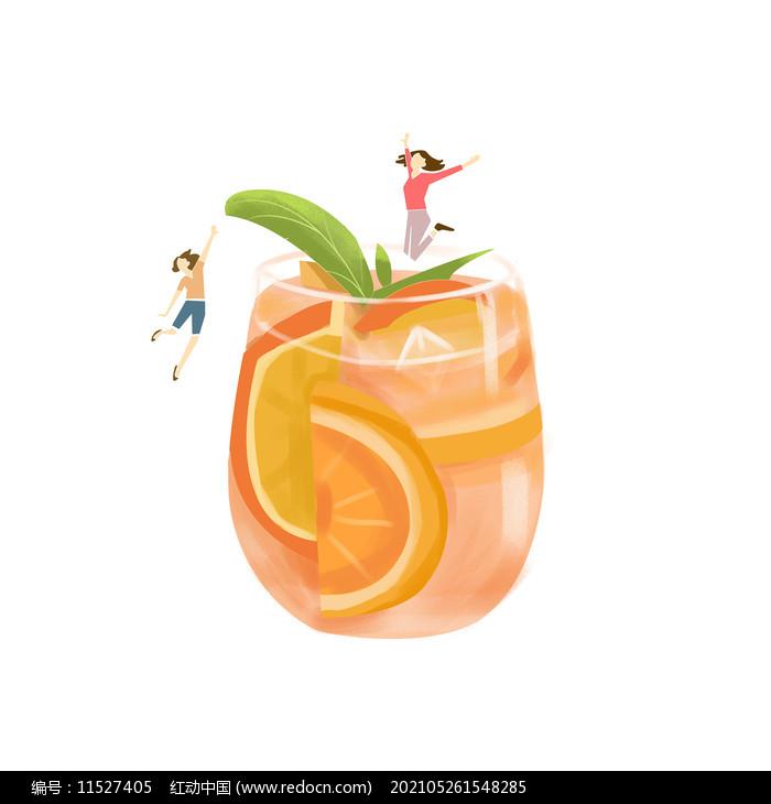 雪糕冷饮人物卡通形象创意组合图片