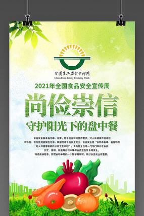 2021全国食品安全宣传周海报