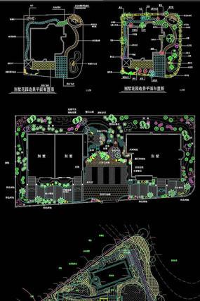 别墅花园造景平面布置图