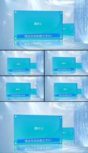 简洁科技图文展示宣传片头AE模版
