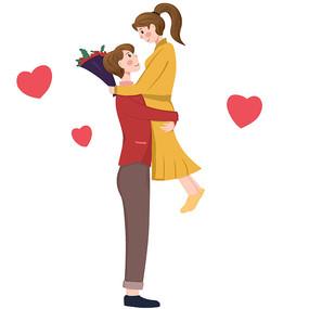 七夕520拥抱的情侣