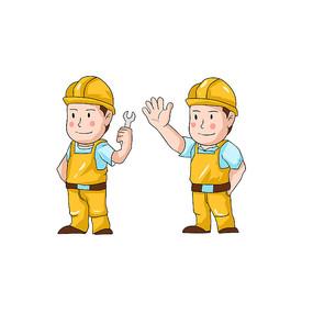 安全日工人卡通素材