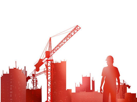 建筑工地安全周施工安全月工人素材