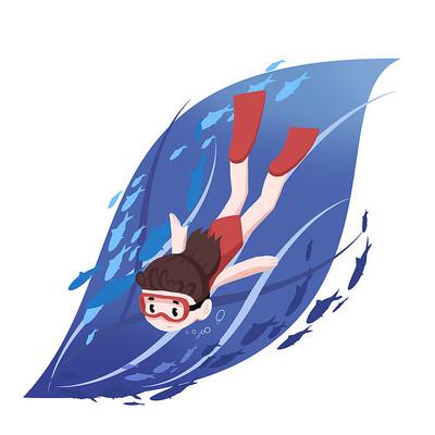 潜水夏天游泳