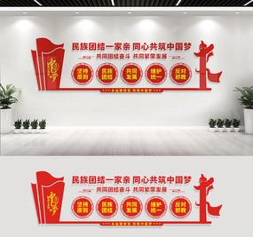 民族团结文化墙宣传标语