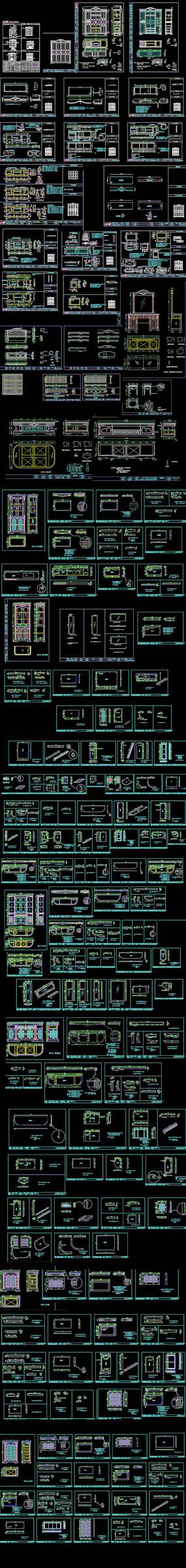 欧式家具CAD图纸