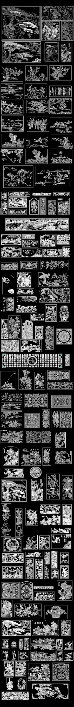 中式石雕花装饰画