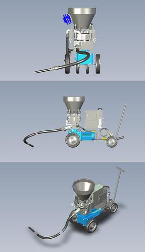 耐火水泥泵喷浆机UG设计