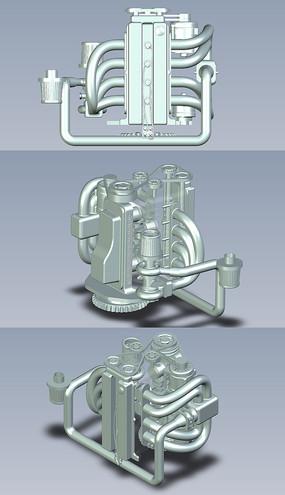汽车DOHC发动机UG设计