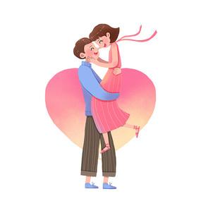 情人节情侣拥抱图