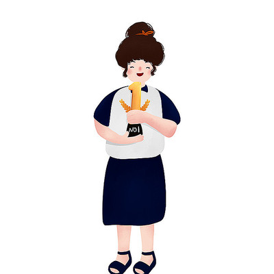 原创拿奖杯女孩