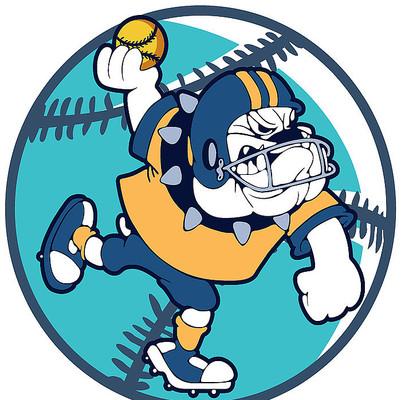 狗狗打棒球T恤印花图案