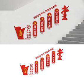 安全生产楼梯文化墙