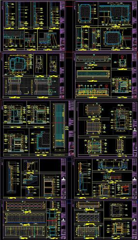 大堂墙身大样图CAD