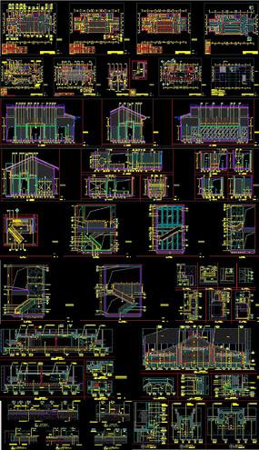 售楼处施工图CAD