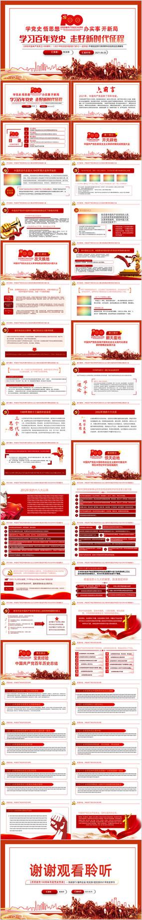 中国共产党百年辉煌建党100周年ppt