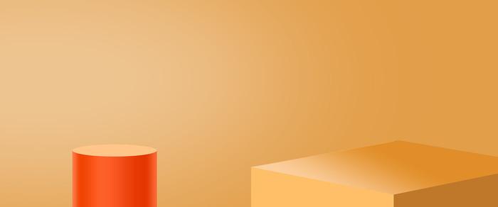 电商橙色洋红色活动轮播图