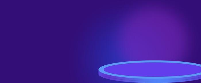 电商蓝紫色活动轮播图