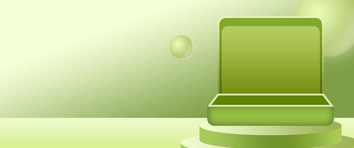 电商绿色盒子活动轮播图