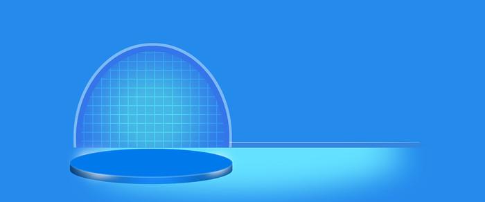 电商青色栅栏活动轮播图
