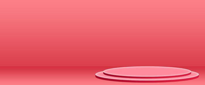 电商洋红圆桌活动轮播图