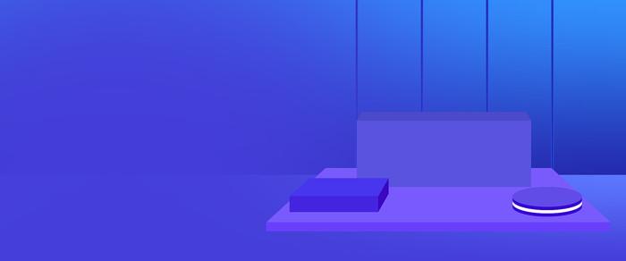 电商紫色棱形活动轮播图